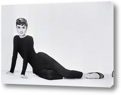 Постер Одри Хепберн позирующая для рекламы фильма<Сабрина>.