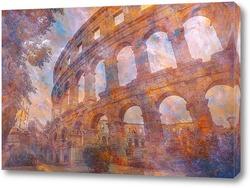Постер Древняя арена в городе Пула, Хорватия