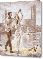 Картина Танец на набережной. Екатеринбург
