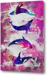 Постер Космические киты