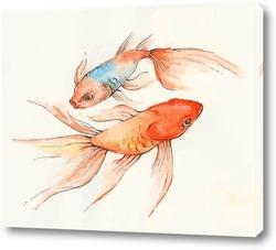Картина Золотые рыбки