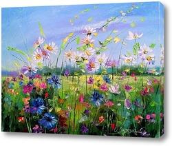 Картина Цветущее поле