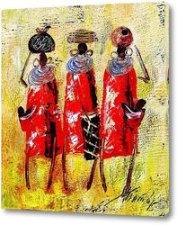 Картина Африканцы в красном.
