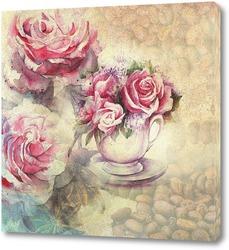 Постер Сашка с розами