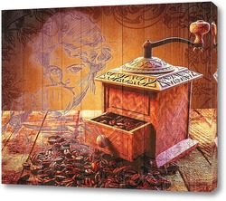 Постер Ретро кофемолка