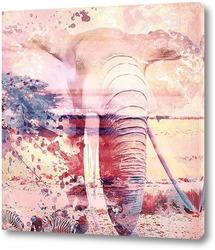 Постер Слон. Сафари. Арт