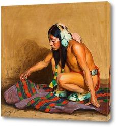 Постер Индеец исследующий Одеяло