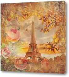 Постер Винтажный Париж