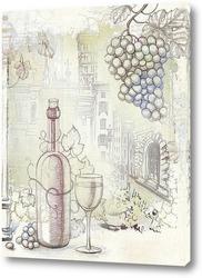 Постер Французское вино