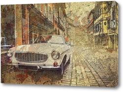 Постер Ретро машина