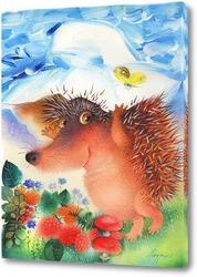 Картина Ёжик в панаме