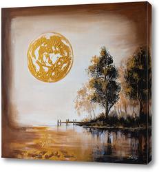 Картина Тишина в золотом