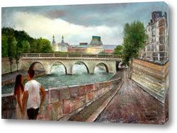 Картина Парижская набережная