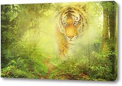 Постер Тигр в джунглях