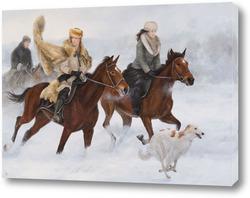 Картина Конная прогулка