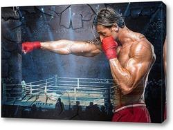 Постер Боксер на ринге