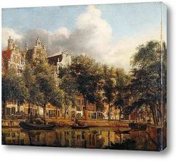 Картина Херенграхт в Амстердаме