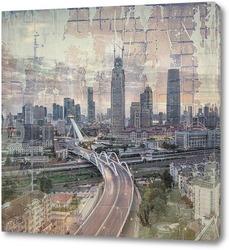 Постер Город в сумерках