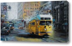 Постер San Francisco Yellow Trolley