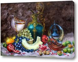 Картина Натюрморт с грецкими орехами