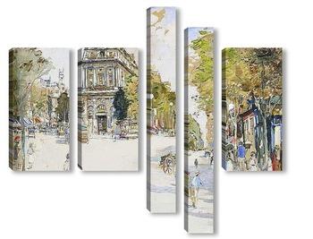 Модульная картина Бульвар Сен-Мартен, Париж