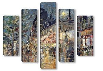 Модульная картина Кафе Марина, Париж
