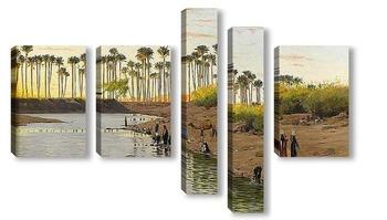Модульная картина Египетский пейзаж
