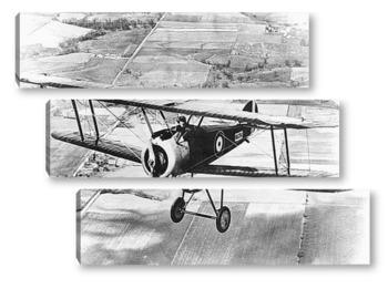 Модульная картина Сопвич F-1<Camel>-в полете.Первая Мировая война.