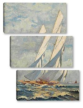 Модульная картина Яхты
