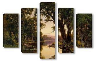 Модульная картина Устье реки в Гоулберн.Виктория
