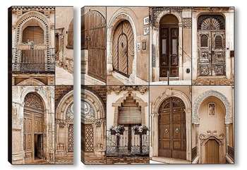 Модульная картина Двери