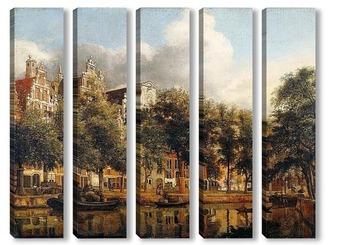 Модульная картина Херенграхт в Амстердаме