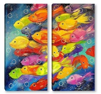 Модульная картина Рыбки
