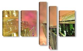 Модульная картина Башни Москва-Сити