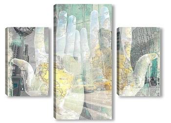 Модульная картина Артпостер. Карта мира