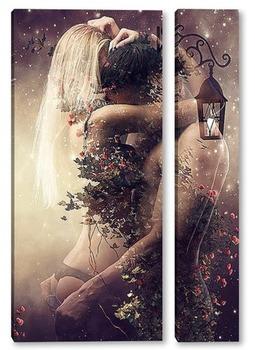 Модульная картина Притяжение любви
