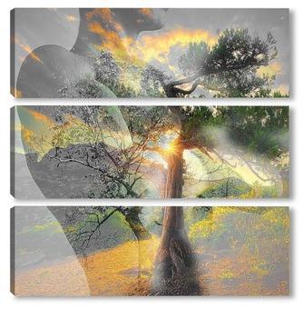 Модульная картина Арт пейзаж