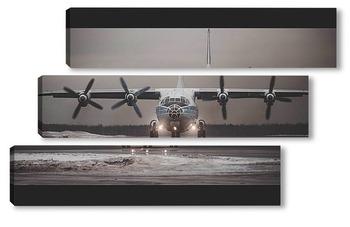 Модульная картина Одинокий самолет