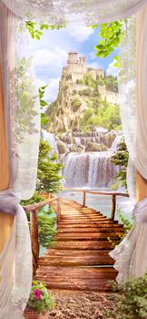 Наклейка Сказочный пейзаж