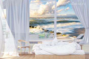 Фотообои Морской пейзаж за окном