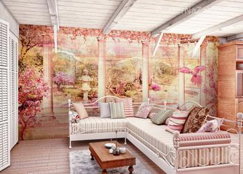 Фотообои Панорама цветущего сада