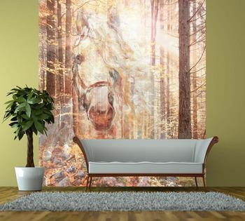 Фотообои Золотой лес