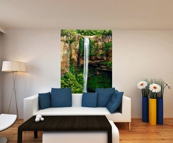 Фотообои Красивый водопад падает в пруд