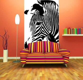 Фотообои Изображение задумчивой зебры