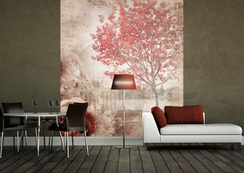 Фотообои Красное дерево