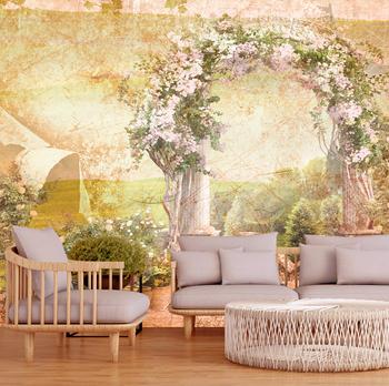Фотообои Дорога в цветущий сад