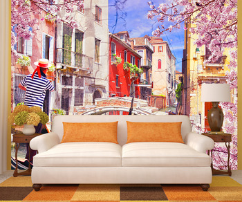 Фотообои Красочные каналы Венеции