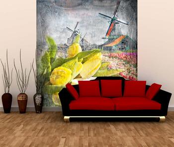 Фотообои Тюльпаны и мельницы